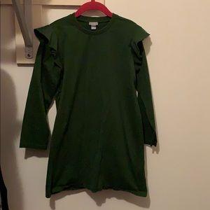 COS Military green girls dress